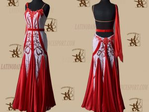LATINODANCESPORT.COM-Ballroom STANDARD SMOOTH Dance Dress-SDS-08