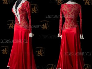 LATINODANCESPORT.COM-Ballroom STANDARD SMOOTH Dance Dress-SDS-15