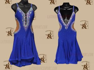LATINODANCESPORT.COM-Ballroom LATIN RHYTHM Dance Dress-LDS-68