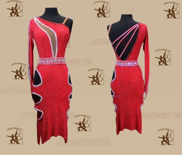LATINODANCESPORT.COM-Ballroom LATIN RHYTHM Dance Dress-LDS-72