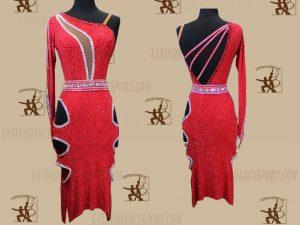 LATINODANCESPORT.COM-Ballroom LATIN RHYTHM Dance Dress-LDS-72