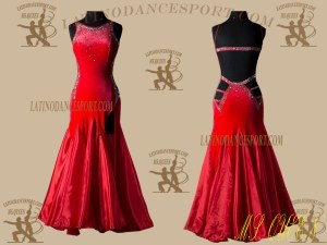 LATINODANCESPORT.COM-Ballroom STANDARD SMOOTH Dance Dress-SDS-22