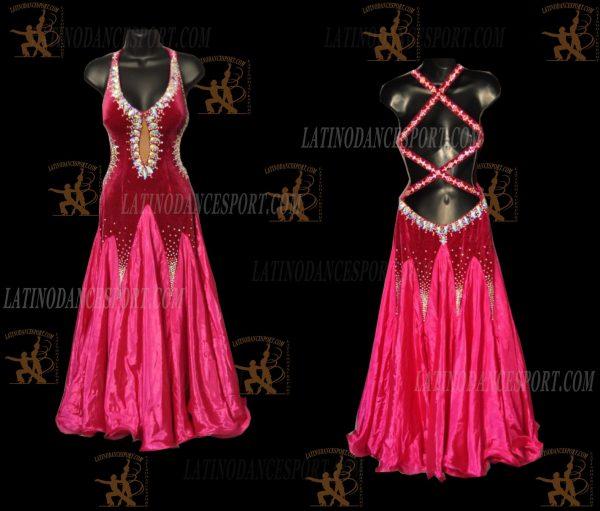 LATINODANCESPORT.COM-Ballroom STANDARD SMOOTH Dance Dress-SDS-26