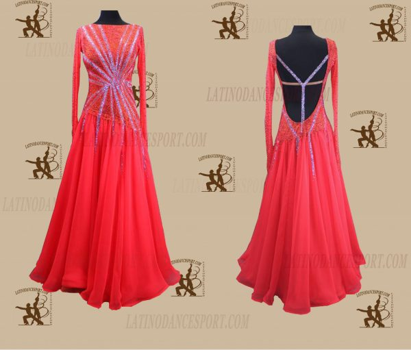 Latinodancesport.com-Ballroom Standard Smooth Dance Dress-SDS-35