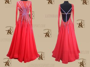 Latinodancesport.com-Ballroom Standard Smooth Dance Dress-SDS-35