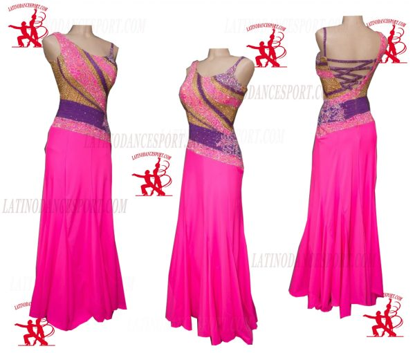 Latinodancesport.com-Ballroom Standard Smooth Dance Dress-SDS-50