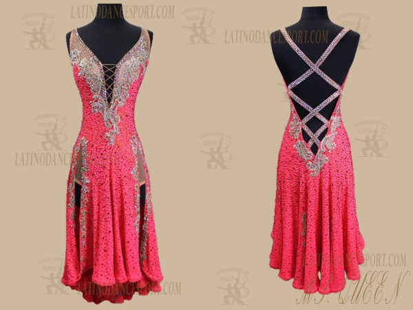 LATINODANCESPORT.COM-Ballroom Latin Rhythm Dance Dress-LDS-92