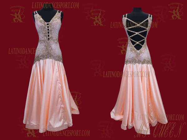 Latinodancesport.com-Ballroom Standard Smooth Dance Dress-SDS-56