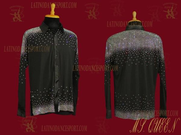 LATINODANCESPORT.COM-Ballroom LATIN RHYTHM Dance Body Shirt-MDS-06