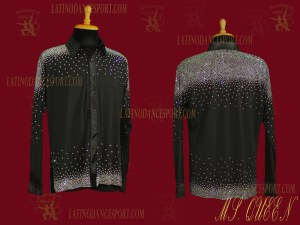 LATINODANCESPORT.COM-Ballroom LATIN RHYTHM Dance Body Shirt-MDS-06
