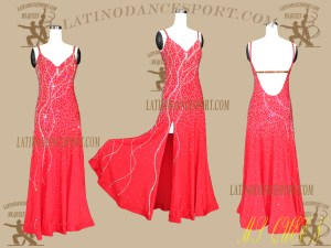 Latinodancesport.com-Ballroom Standard Smooth Dance Dress-SDS-58
