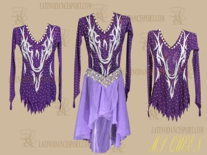 LDS-20-Ballroom Dance Costumes Latin Dress For Competition