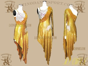 LDS-97-Ballroom Latin Dance Dress Tailored Stoned Competition