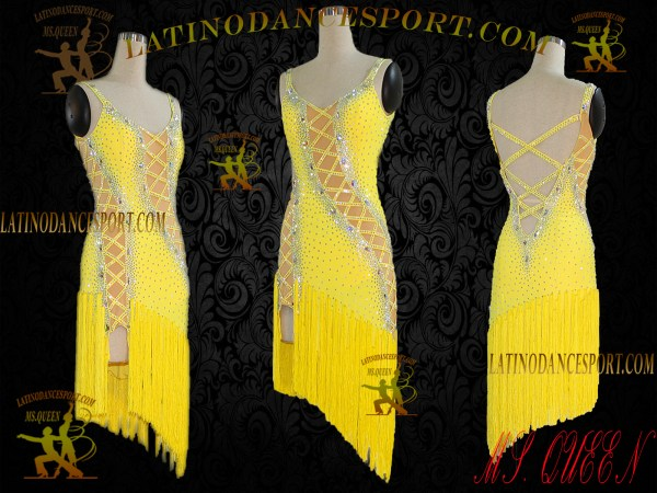 Latinodancesport Ballroom Dance LDS-03A Latin Dress Tailored