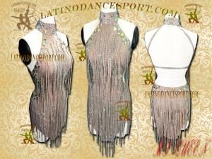 Latinodancesport Ballroom Dance LDS-19 Latin Dress Tailored