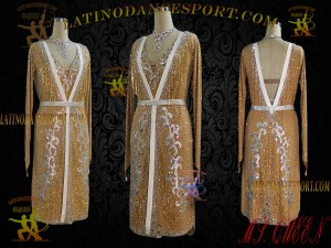 Latinodancesport Ballroom Dance LDS-41 Latin Dress Tailored