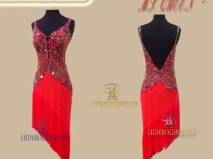 Latinodancesport Ballroom Dance LDS-66 Latin Dress Tailored
