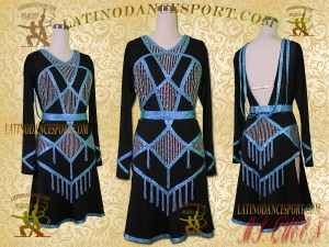 Latinodancesport Ballroom Dance LDS-24A Latin Dress Tailored