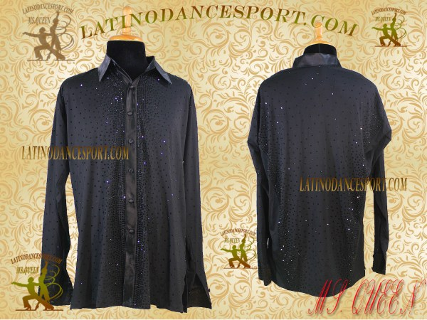 Latinodancesport Ballroom Dance Menswear MDS-11 Latin Shirt Body Tailored