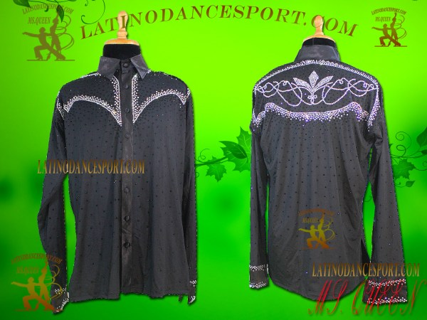 Latinodancesport Ballroom Dance Menswear MDS-13 Latin Shirt Body Tailored