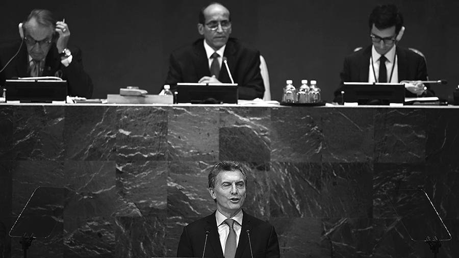 El Presidente repitió en la ONU los slogans de su campaña