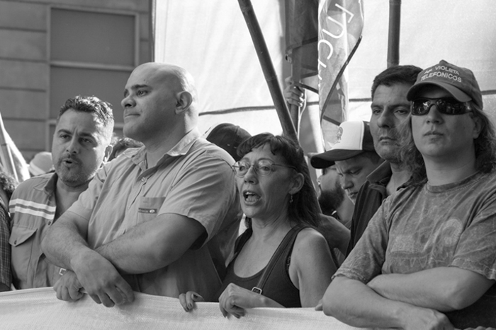 María del Carmen Verdú en la marcha por los 15 años del 19 y 20 de diciembre de 2001. 20 de diciembre de 2016