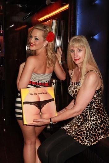 "Alexis Texas & Dian Hanson with the ""Big Butt"" book"