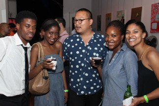 Party Goers in the Axe Twist Industry Lounge 10