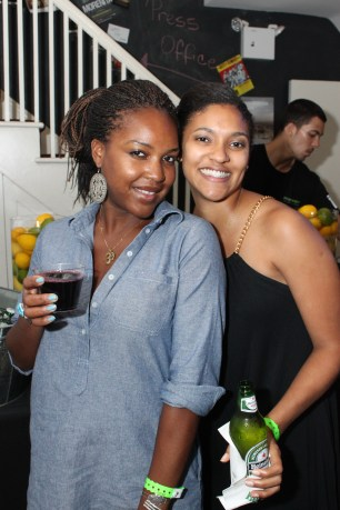 Party Goers in the Axe Twist Industry Lounge 9