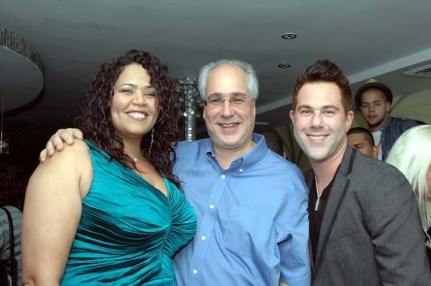 (Left to right) Judy Torres, Gary Salzman, (her Manager) and David Miskin, Director of the Stay video