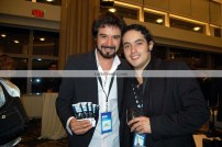(Left to right) César Camacho (The Latin Rock Conference) and composer / guitarrist Nilko Andreas