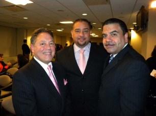 Dr. Luis Estevez, Juan Guillen, Publisher Latin Trends Magazine and Luis Velázquez, National Hispanic Chamber of Commerce on Health Board Chairman
