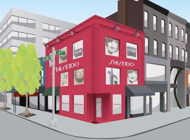 shiseido pop up image