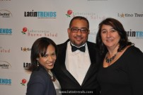 Left to right: Marisol Martinez of associate sponsor Time Warner Cable, Juan Guillen of LatinTRENDS, and Alessandra Otero-Reiss of associate sponsor Time Warner Cable