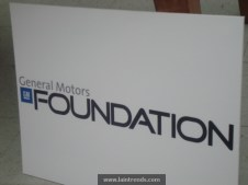 GM Foundation Banner at Green Bronx Machine Event.121012
