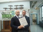 Hon. Ruben Diaz Jr. & Stephen Ritz Embrace with BBP Citation of Merit.121012