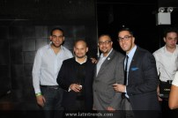 From left to right: DJ Aneudy of La Mega, Richard Rodriguez of Laboratorio Buena Salud, Juan Guillen of LatinTRENDS, and John Cabarga of Chivas Regal