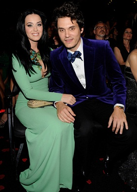 Katy Perry and boyfriend John Mayer in the audience at the 2013 Grammy Awards [Photo: Getty Images]