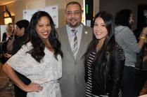 Juan Guillen & Maria Luna of Latin TRENDS with Gina Rodriguez