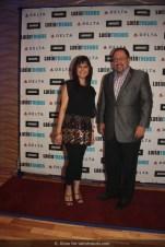 Nathalia Ortiz of TelemundoNY and Bob Unanue, president of Goya Foods