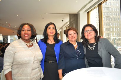 From left to right: Dawna Michelle Fields, National Director Bright Smiles Bright Future, Colgate Palmolive; Juanita Vargas, VP Programs and Operations, Community Investment, United Way of NYC; Elba Montalvo, Founder, President & CEO of CHCF; and Ofelia Castiblanco, Director Community Affairs, NBC 4 & Telemundo Nuevo York.