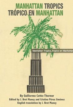 Book cover of Tropico in Manhattan showing palm tree growing out of tall building
