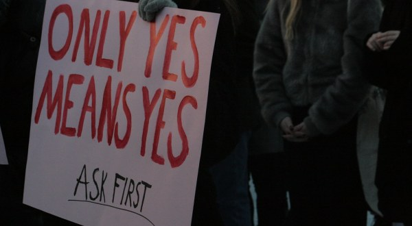 Sign reading Only Yes Means Yes