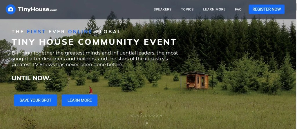 Evento Online de Tiny Houses