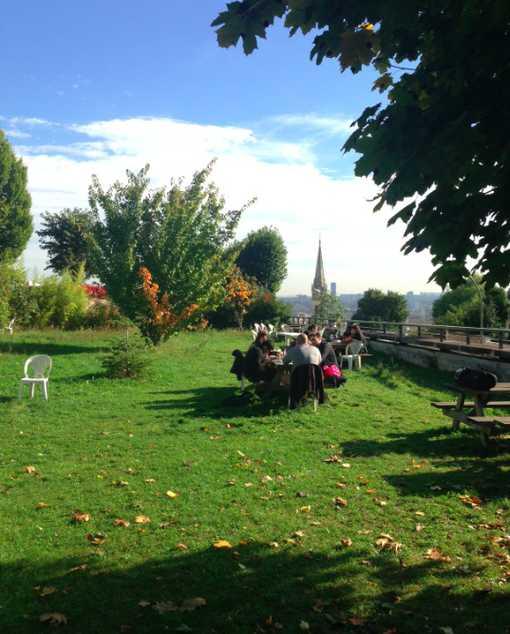 Le jardin secret (et suspendu) du Pôle métiers du livre • Crédits : MQ - Radio France