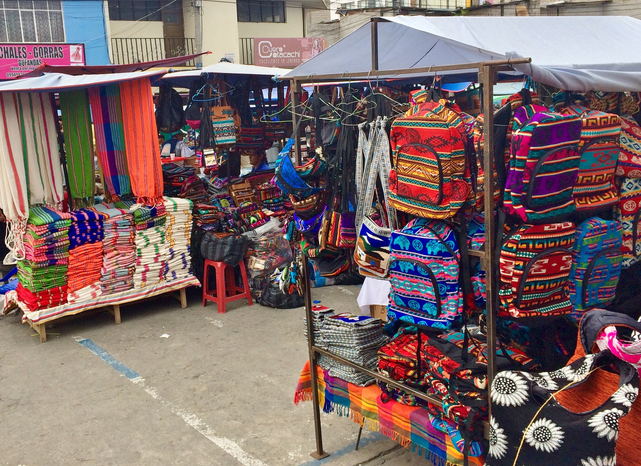 "Otavalo-Market-1 ""Panama"" Hats and Hot Springs: Two Day/Overnight Trips Out of Quito, Ecuador Ecuador"