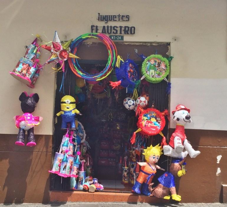 Pinata-shop-Quito FOUR DAYS IN QUITO, ECUADOR: Part I Ecuador Quito