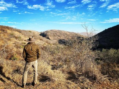 Kevin-looking-for-tigers Guest Post: Tiger Safari in Ranthambore National Park India
