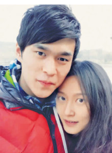 Sun Yang, China's Olympic swimming champion, and the girlfriend who landed him in hot water. (Weibo)