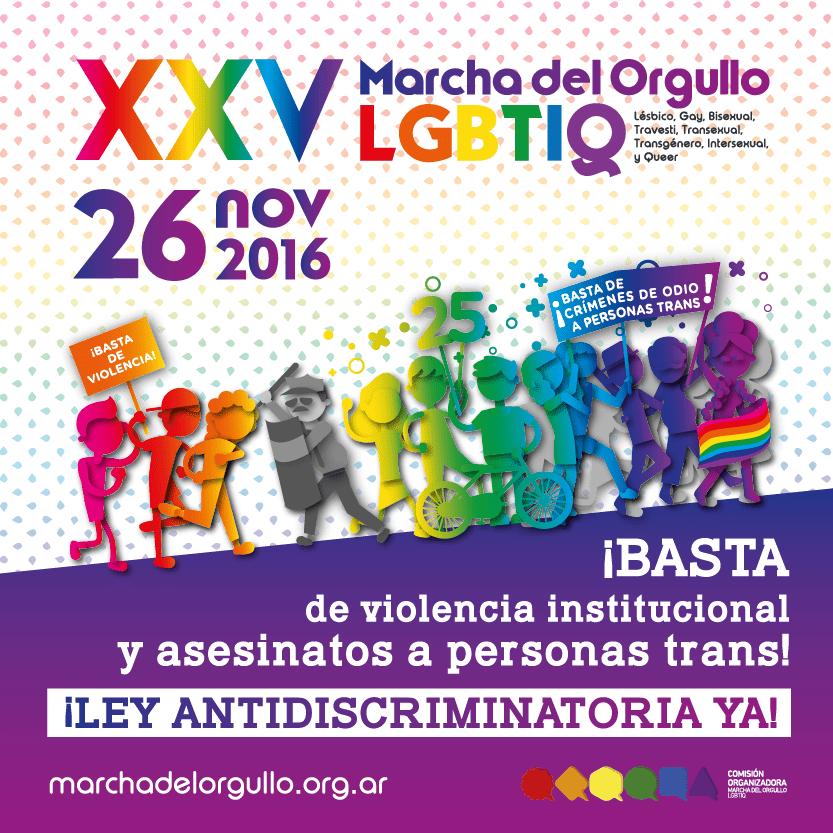 XXV° Marcha del Orgullo LGBTIQ de Buenos Aires 2016